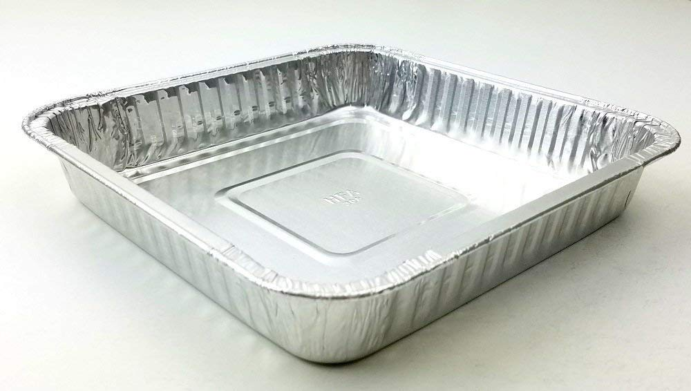 "HFA 9"" Square Cake Foil Pan With Dome Lid 50/PK"