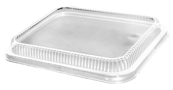 Low Dome Clear Lid for Half-Size Aluminum Foil Pan