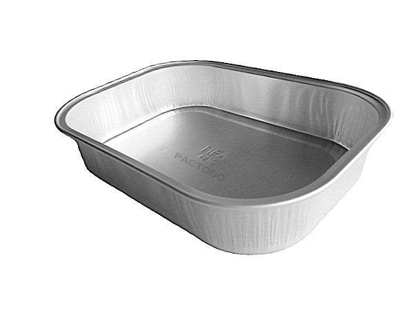 Handi-Foil 1 lb. Mini Oblong Sliver Series Foil Pan w/Clear Dome Lid 20/PK