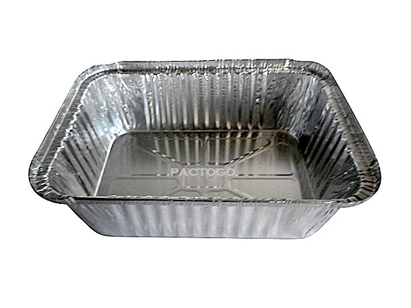 5 lb. Oblong Entrée Foil Take-Out Pan Side