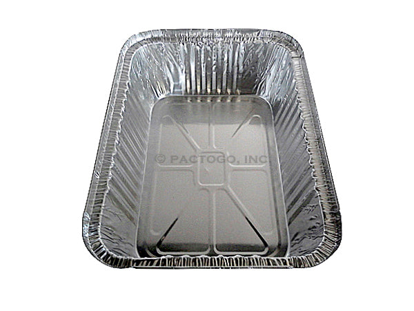 5 lb. Oblong Entrée Foil Take-Out Pan Front