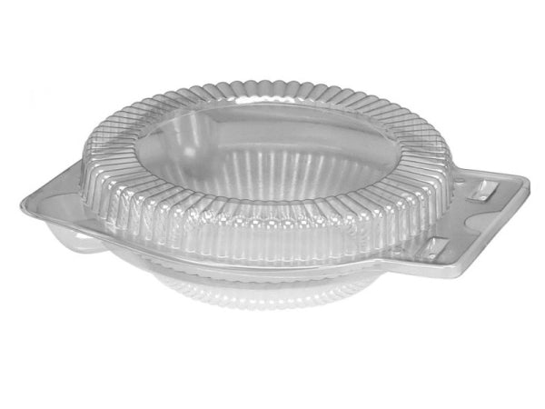 "Clear Clamshell for 6"" Foil Pie Pan Plates"
