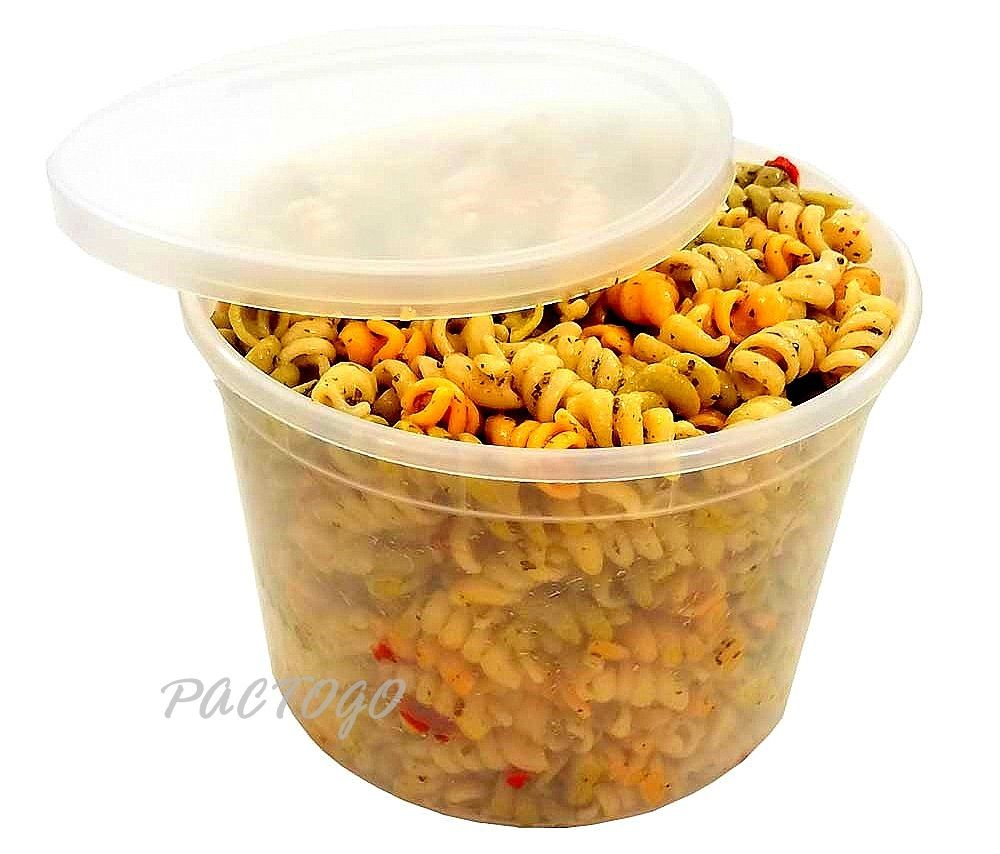 64 oz. Round Soup Container Tub w/Lid Combo