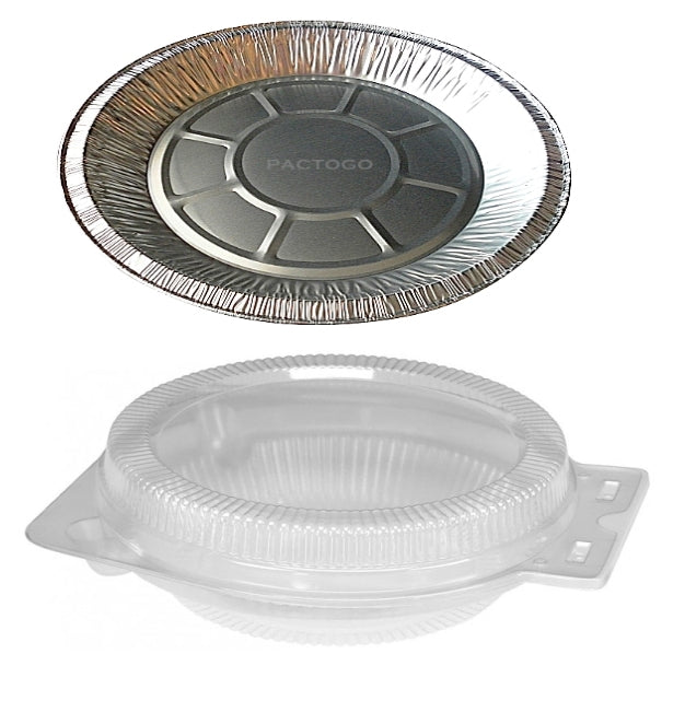 "9"" Foil Pie Pan w/Clear Clamshell"