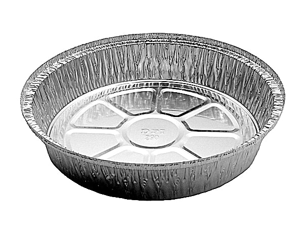 "9"" Round Aluminum Foil Take-Out Pan"