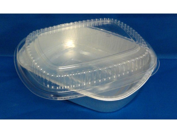 Large Silver Entrée Pan w/Clear Dome Lid