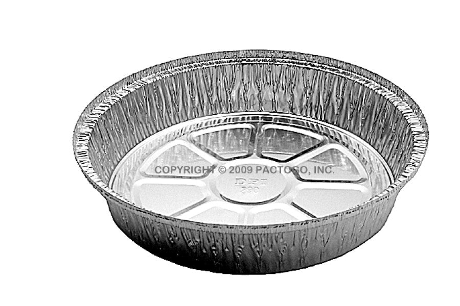 "HFA 9"" Round Foil Take-Out Pan w/Dome Lid"