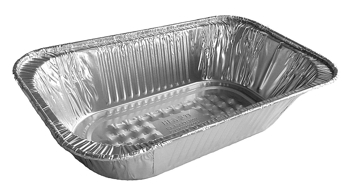 Quarter-Size Deep Steam Table Aluminum Foil Pan w/Lid Combo 100/PK
