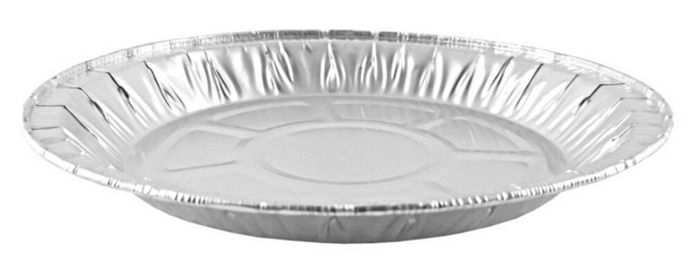 "Handi-Foil 8"" Medium Foil Pie Pan 27/32"" Deep 50/PK"