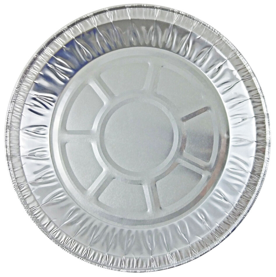 "Handi-Foil 8"" Medium Foil Pie Pan 27/32"" Deep 125/PK"