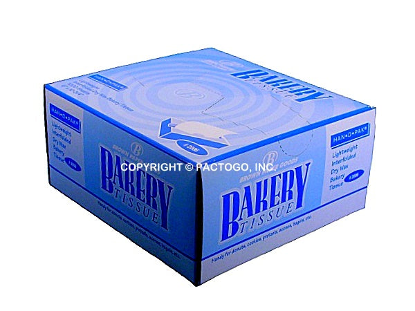 "Durable Packaging 6""x10.75"" Bakery Tissue 10x1000/CS"