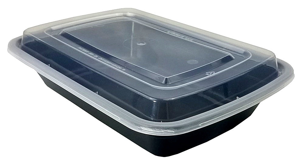 32 oz. Black Microwaveable Container