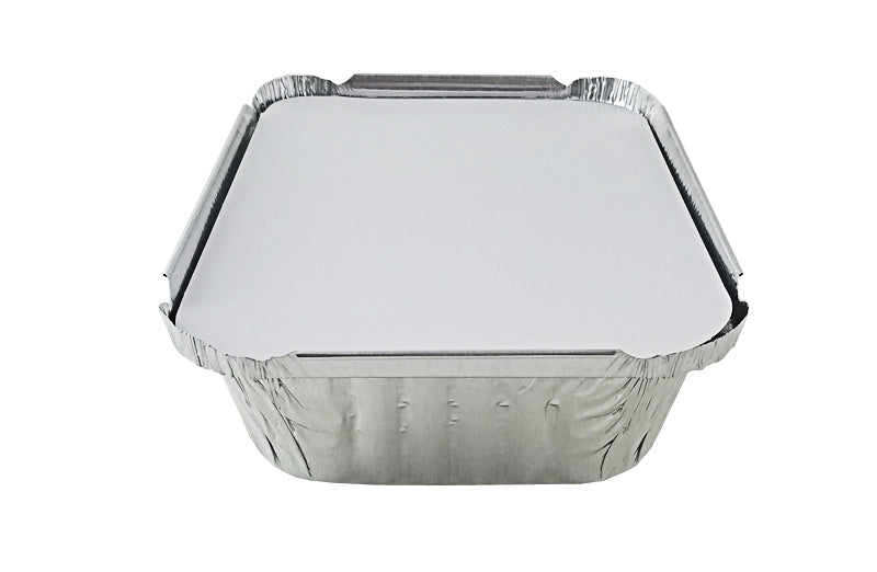Handi-Foil 1 1/2 lb. Oblong Deep Foil Take-Out Pan w/Board Lid
