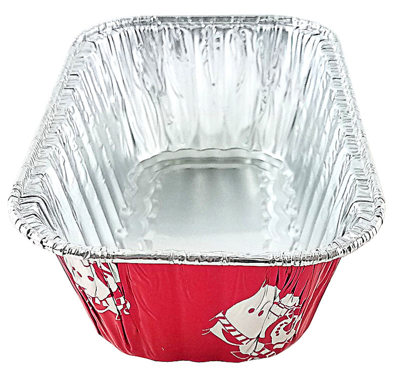 Handi-Foil 1 lb. Red Holiday Snowman Pan