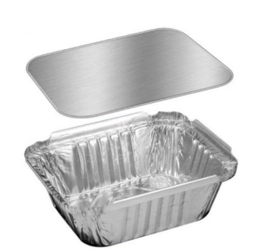1 lb. Oblong Foil Take-Out Pan w/Board Lid Combo