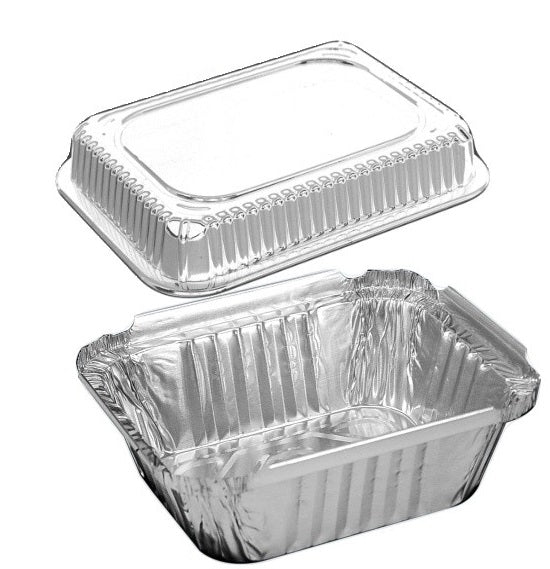 1 lb. Oblong Foil Take-Out Pan w/Dome Lid
