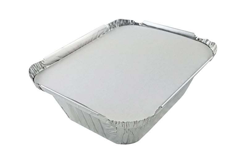 Handi-Foil 1 lb. Oblong Foil Take-Out Pan w/Board Lid