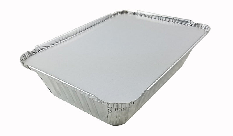 handi-foil-2-1-4-oblong-foil-take-out-pan-w-board-lid  1 2 3