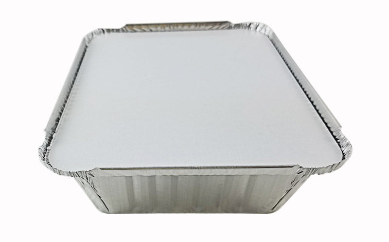 Handi-Foil 2 1/4 lb. Oblong Foil Take-Out Pan w/Board Lid