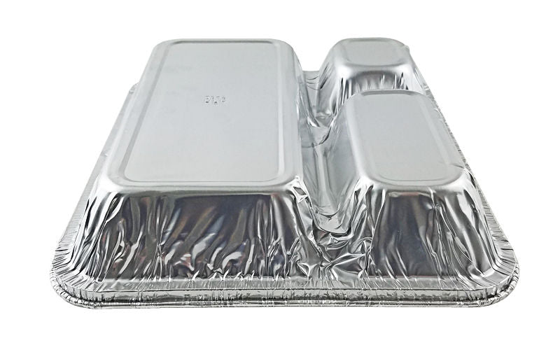Handi-Foil Large 3-Compartment Oblong Pan