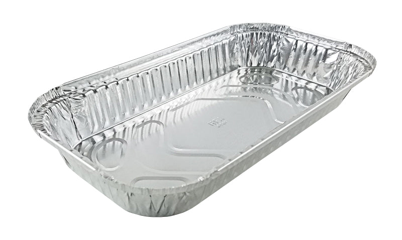 Handi-Foil 3 lb. Oblong Foil Take-Out Pan w/Board Lid