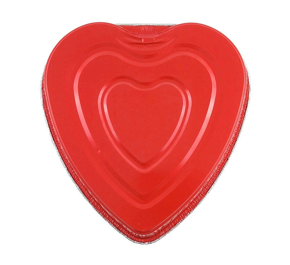 Handi-Foil Red Aluminum Foil Heart Cake Pan (PANS ONLY NO LIDS) 10/PK