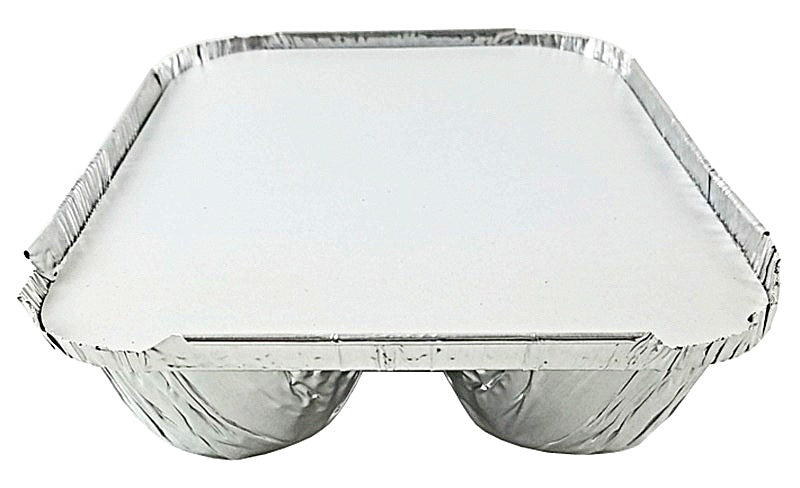 Handi-Foil 3-Compartment Oblong Pan w/Board Lid Combo