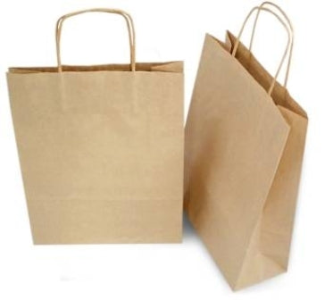 Medium Brown Handle Shopping Bag