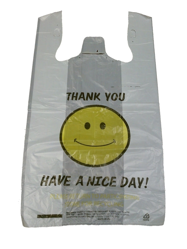 Large Happy Face T-Shirt Bag