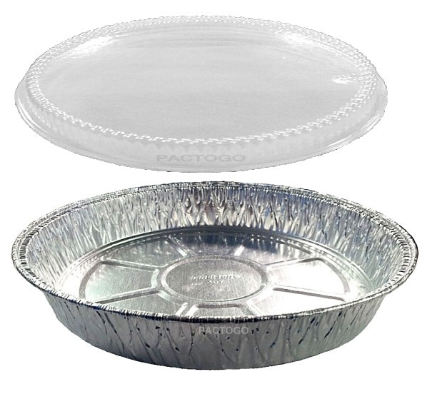 "Handi-Foil 9"" Round Cake w/Clear Dome Lid"