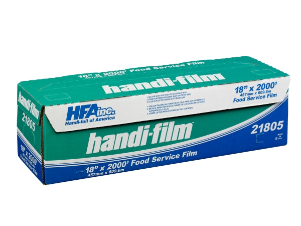 "HFA Handi-Film 18"" x 2000' Plastic Food Wrap"