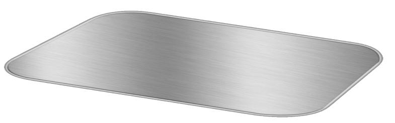 Board Lid For 3 lb. Oblong Foil Take-Out Pan 500/CS