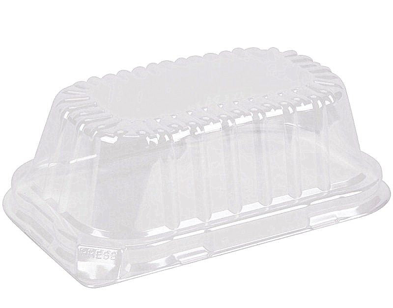 Durable Clear High Dome Lid For 1 lb. Foil Loaf Pan 500/CS