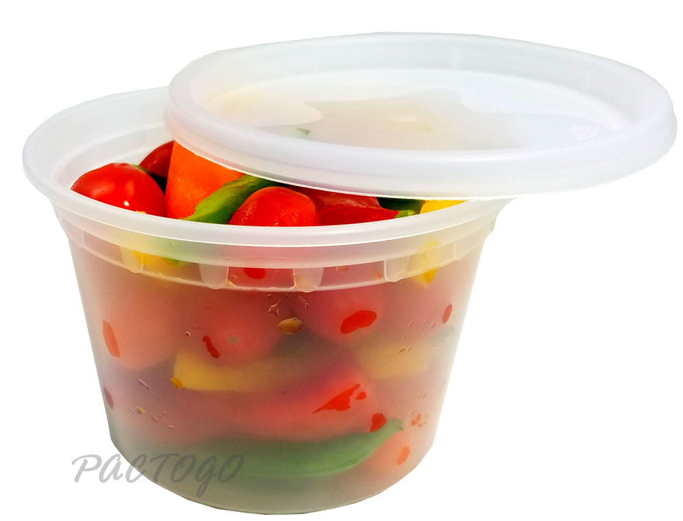 16 oz. Round Microwaveable Soup Container w/Lid