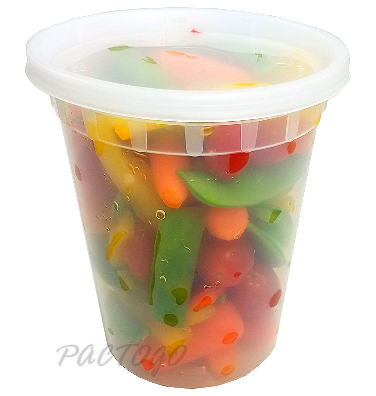 32 oz. Round Soup Container w/Lid