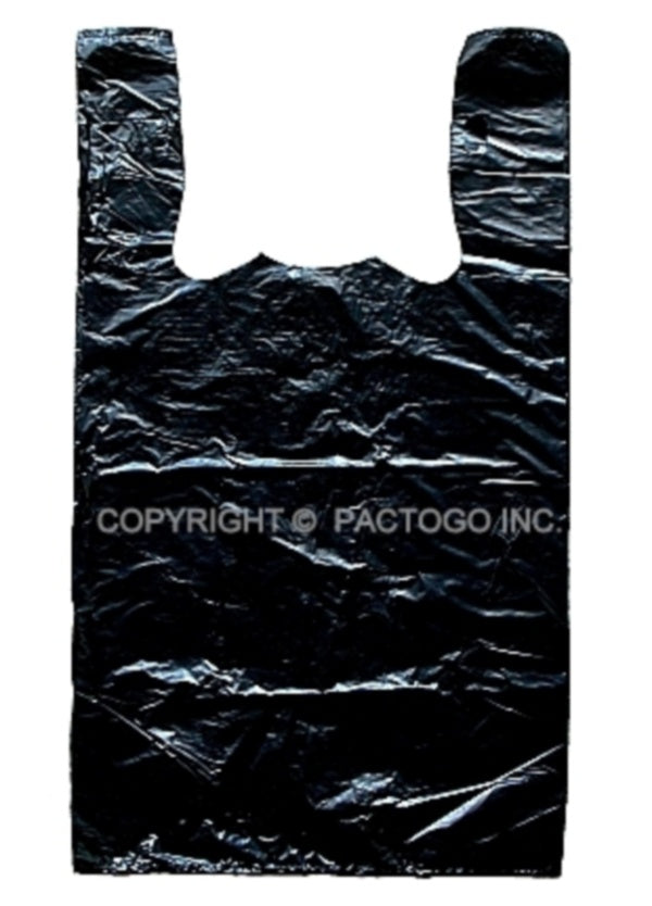 Small Black T-shirt Shopping Bag