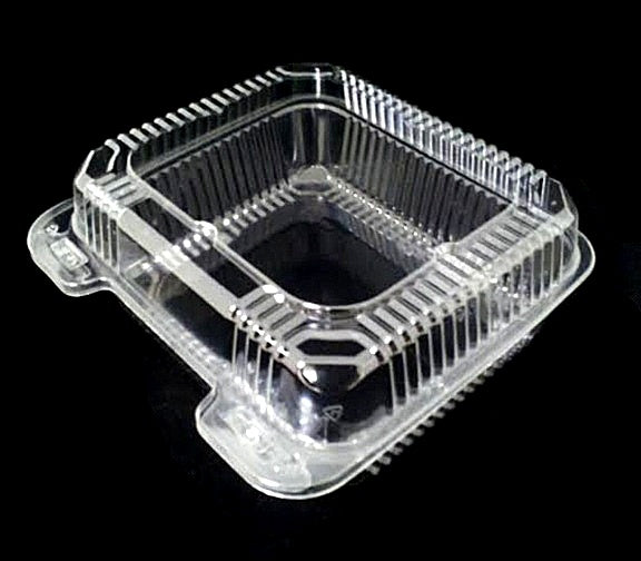 "8"" Deep Clear Hinged Container"