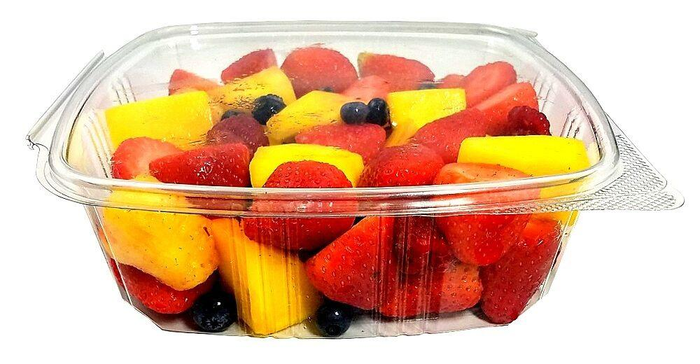 48 oz. Clear Hinged Deli Fruit Container 50/PK