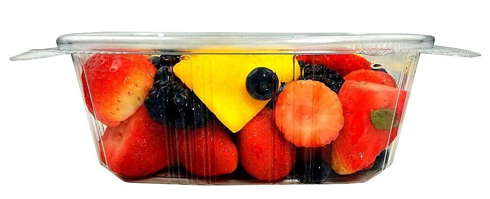 32 oz. Clear Hinged Deli Fruit Container 200/CS