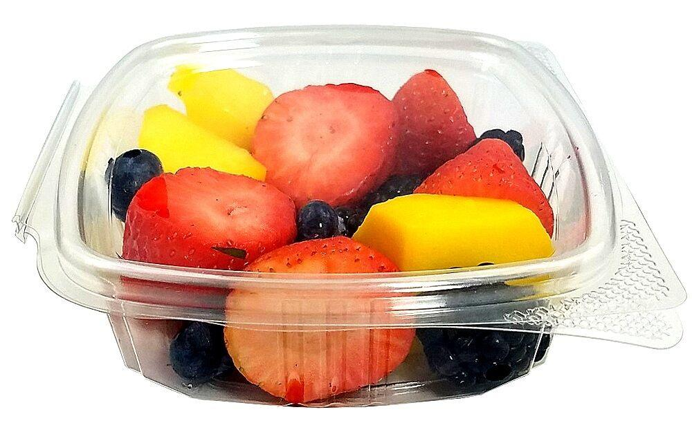 8 oz. Clear Hinged Deli Fruit Container 50/PK