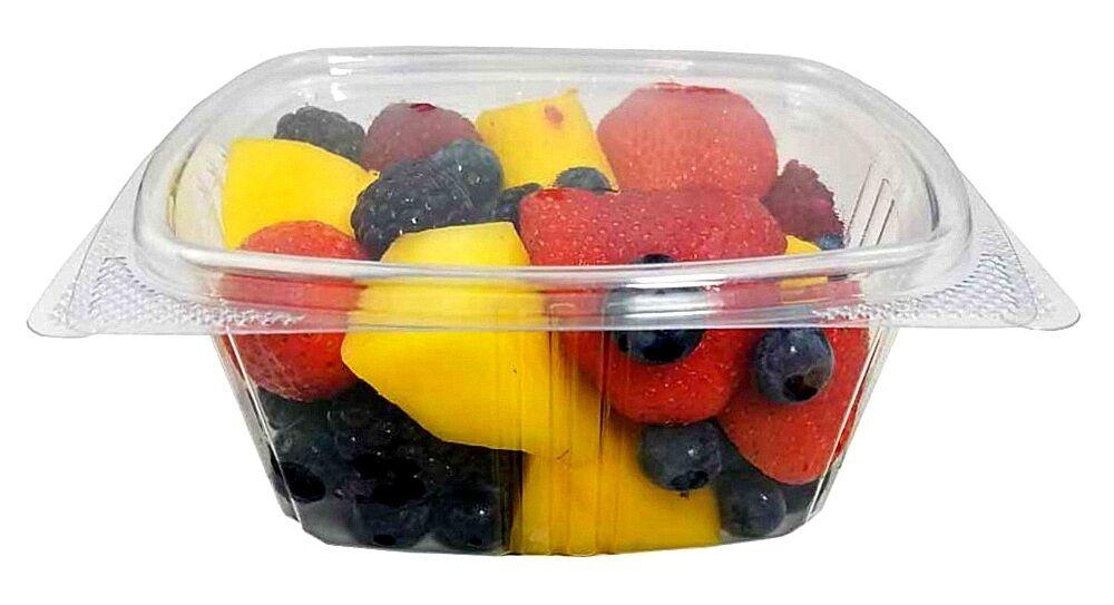 16 oz. Clear Hinged Deli Fruit Container 50/PK
