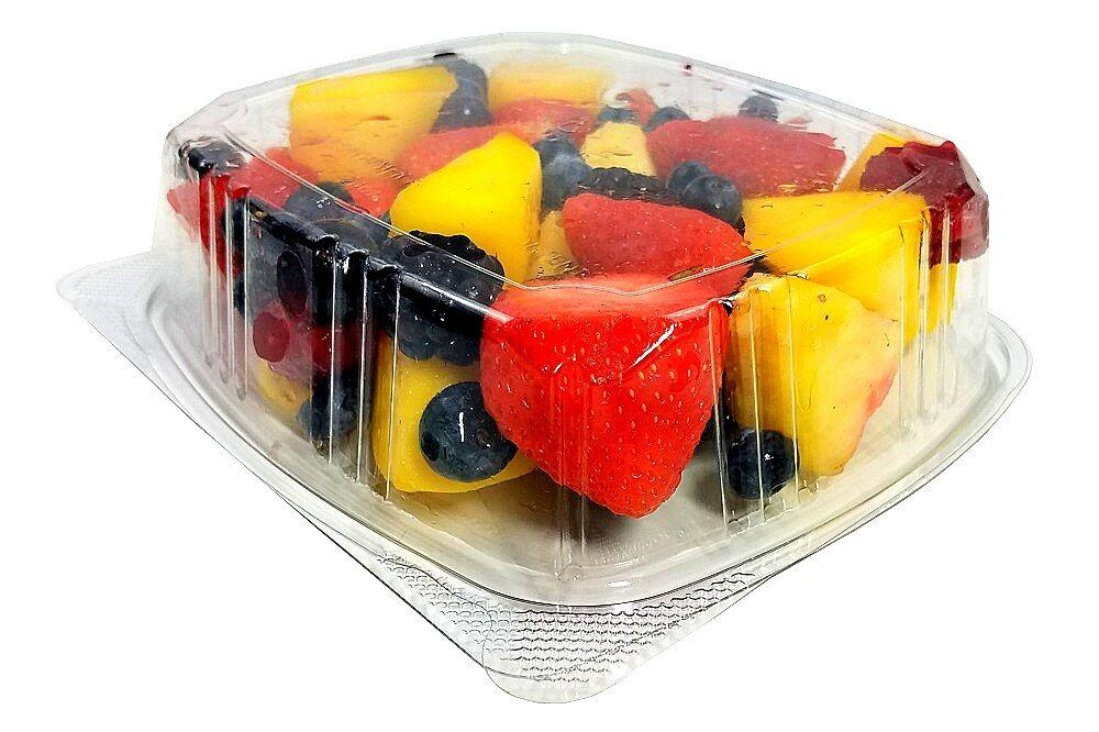 24 oz. Clear Hinged Deli Fruit Container 200/CS