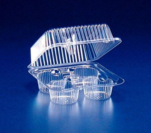 Inline SLP54P 4-Cup Large Muffin Cupcake Container 300/CS