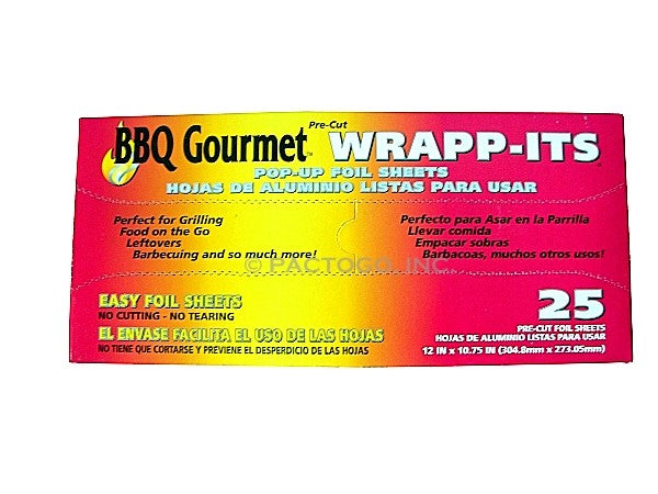 Wrapp-Its BBQ Aluminum Foil Pop-Up Sheets