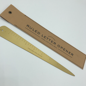 Brass Ruled Letter Opener