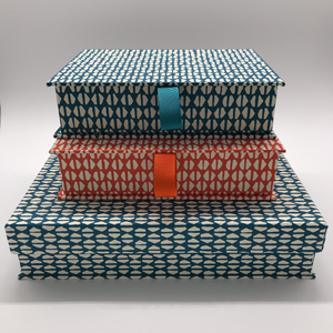 A5 Box File in Kingfisher Blue