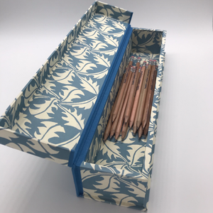 Pen Box Dandelion Blue