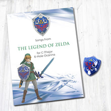 Load image into Gallery viewer, 6 Hole Legend of Zelda Shield Ocarina