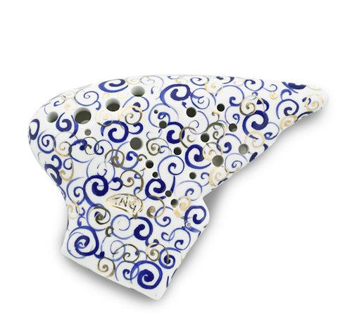 Blue and White Porcelain Quadruple Ocarina