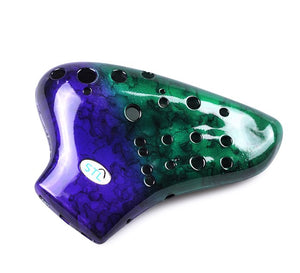 New Plastic Triple Ocarina (Double Colors)